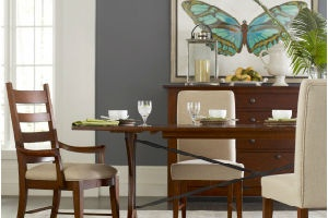 wooden table and chairs, dining room