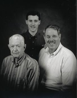 black and white photo of owners